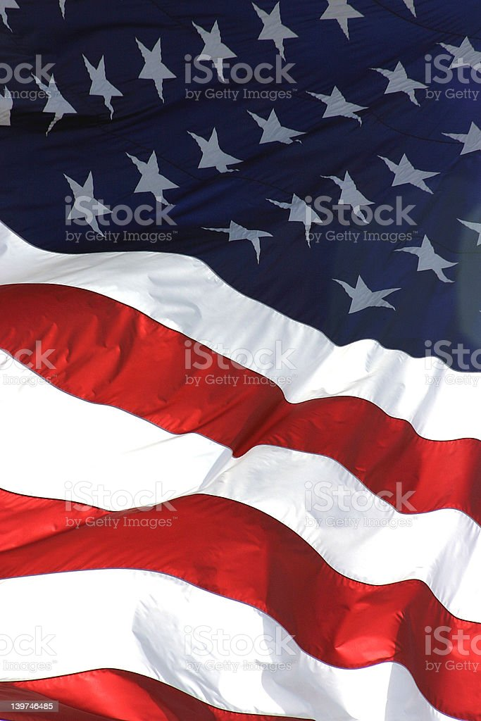 American Flag, Vertical View royalty-free stock photo