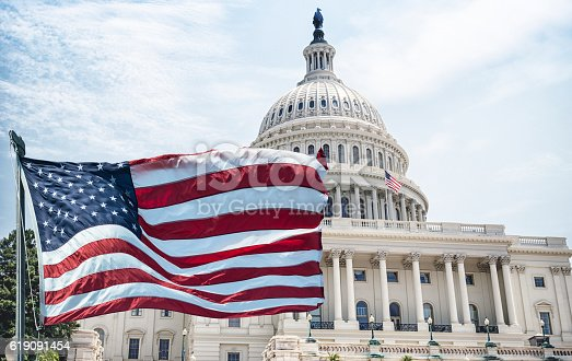 istock american flag waving for a national holiday in washington dc 619091454