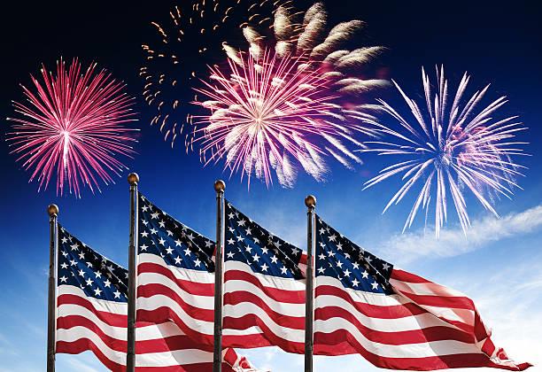 american flag fireworks