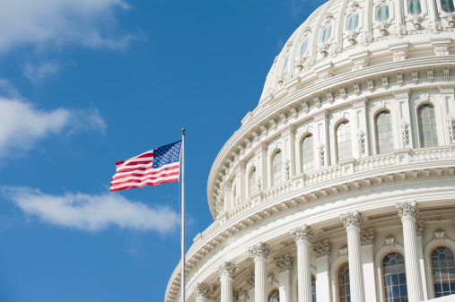 Sunrise at Capitol Hill in Washington DC