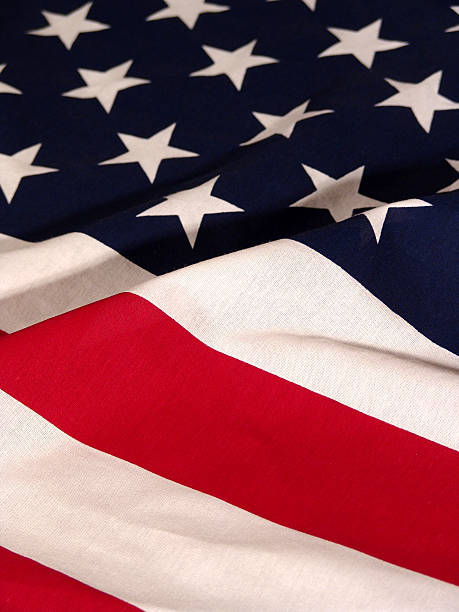 American Flag, Waving stock photo