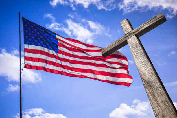 Image result for cross and american flag