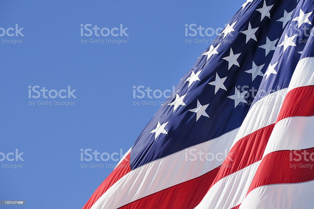 American Flag With Copy Space stock photo