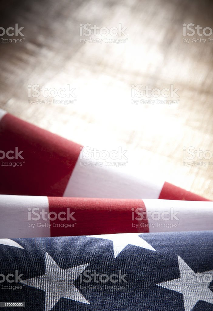 USA American Flag with Copyspace royalty-free stock photo