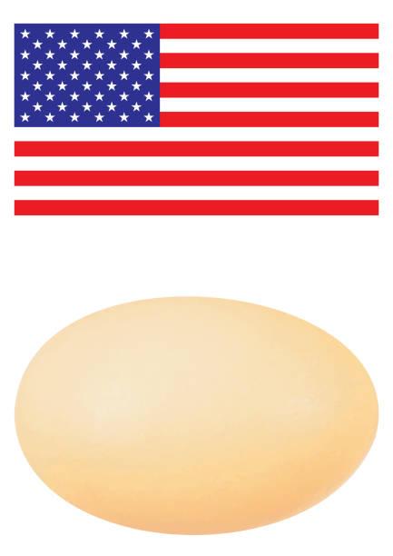 Amerikanische Flagge mit Ei – Foto