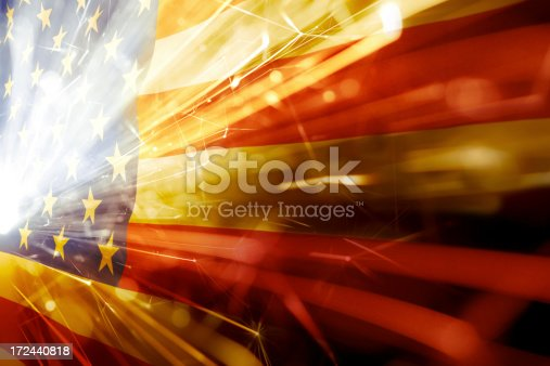 182764873istockphoto American flag with flared white light over the stars 172440818