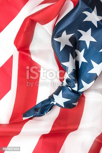 istock American flag with knot 687932454