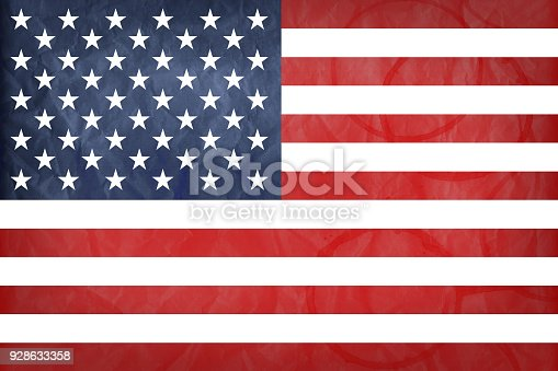 istock American flag with vintage look on paper background 928633358