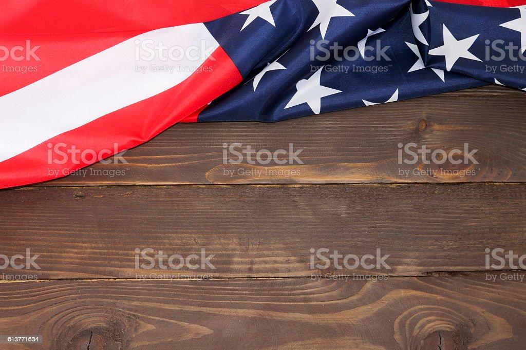 American flag wooden background - foto de acervo
