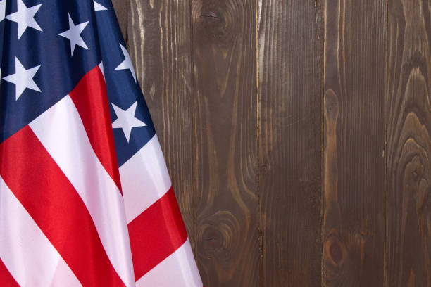 american flag wooden background.the flag of the united states of america. the place to advertise, template. - columbus day zdjęcia i obrazy z banku zdjęć