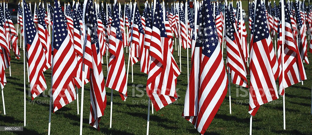 American Flags Banner royalty-free stock photo