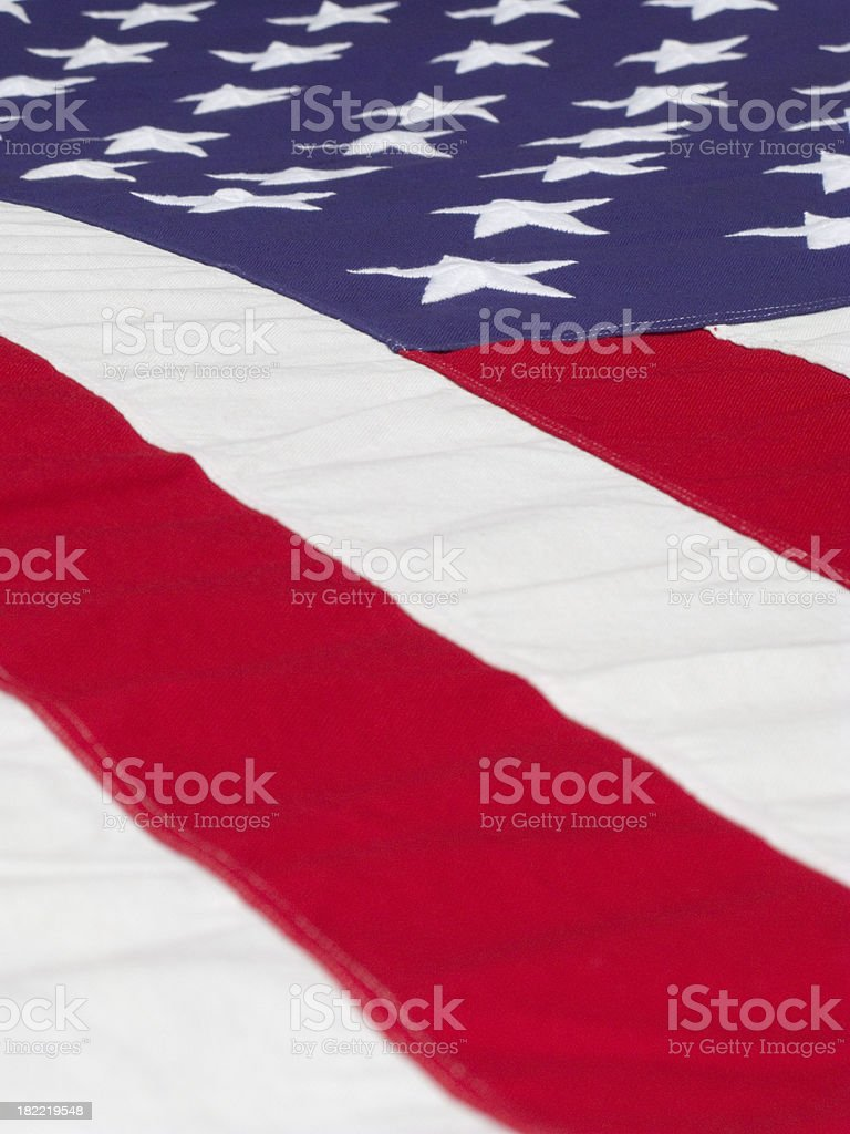 American Flags Low View Full Frame Vertical royalty-free stock photo