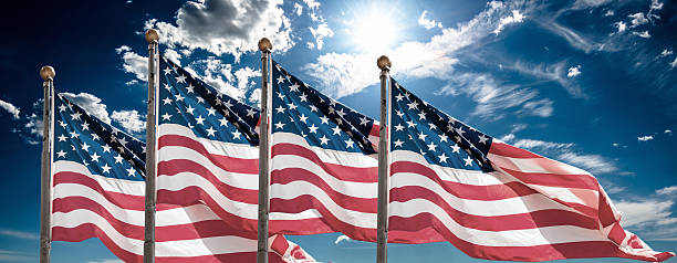american flags waving for memorial day http://blogtoscano.altervista.org/fla.jpg image stock pictures, royalty-free photos & images