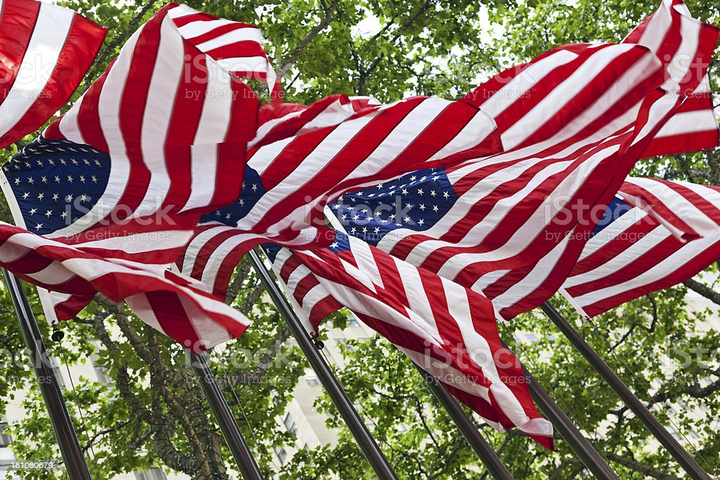 American flags # 1 XXXL royalty-free stock photo