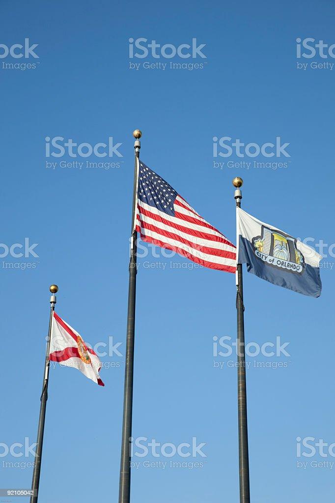 American Florida And Orlando Flag Stock Photo - Download