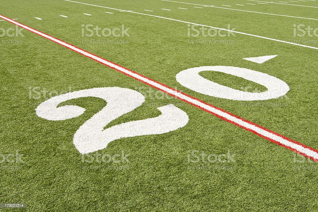 American Football 20 Yard Marker royalty-free stock photo