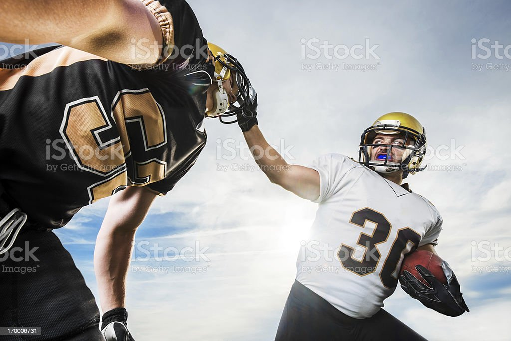 American football action. stock photo