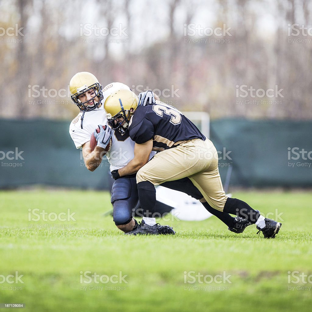 American football action. royalty-free stock photo