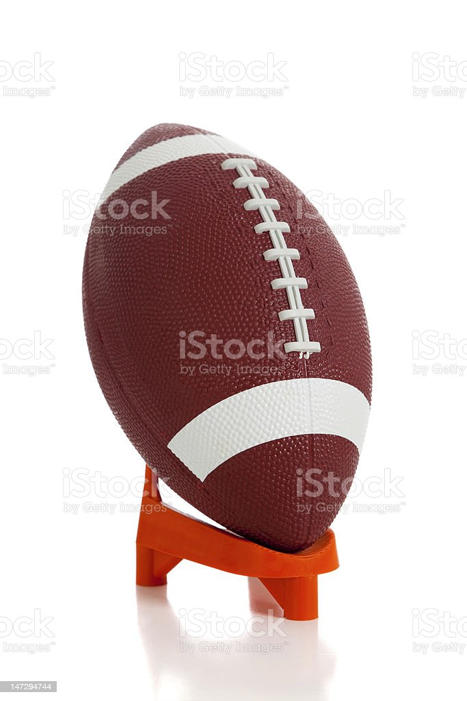 American football and tee royalty-free stock photo