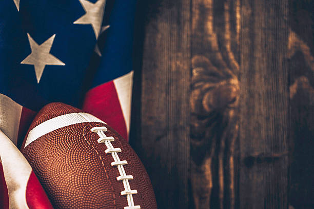 Best American Football Background With Usa Flag And Copy