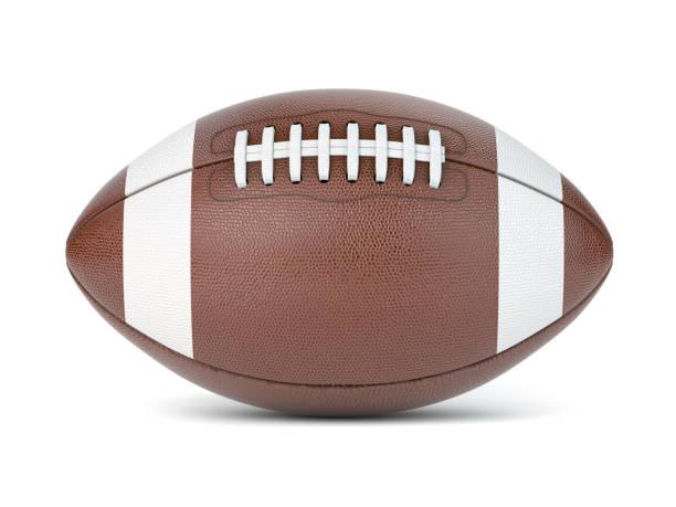 American Football Ball isoliert auf weißem Hintergrund. – Foto