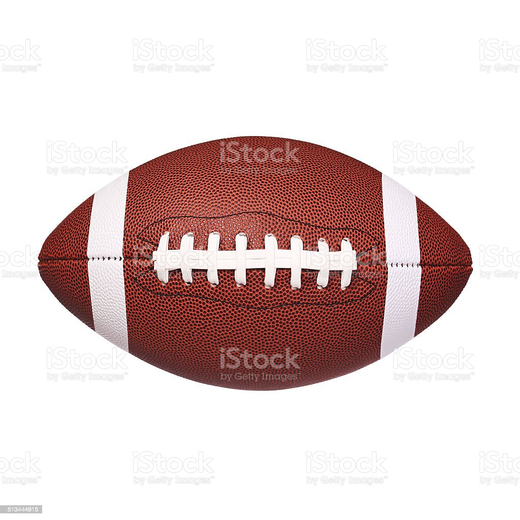 American Football Ball isolated stock photo