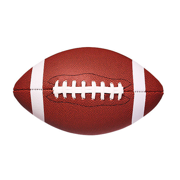 american football ball isoliert - amerikanischer football stock-fotos und bilder