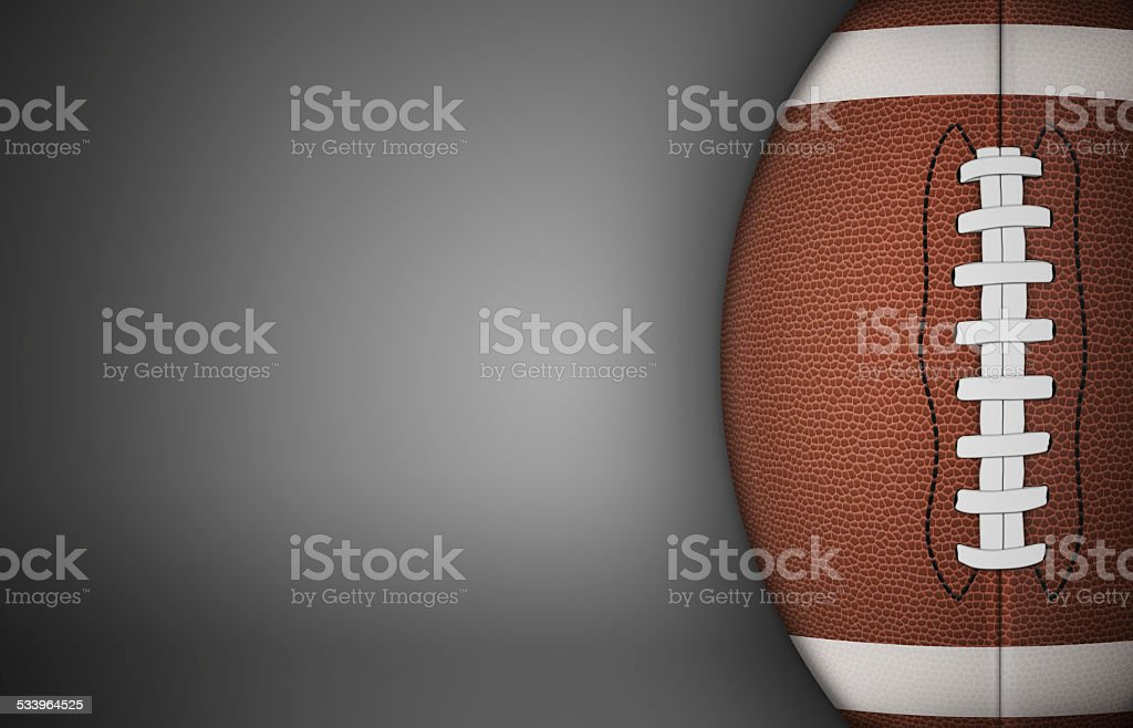 American Football Ball on Gray stock photo