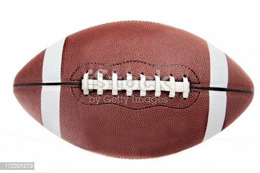 An American Football on White