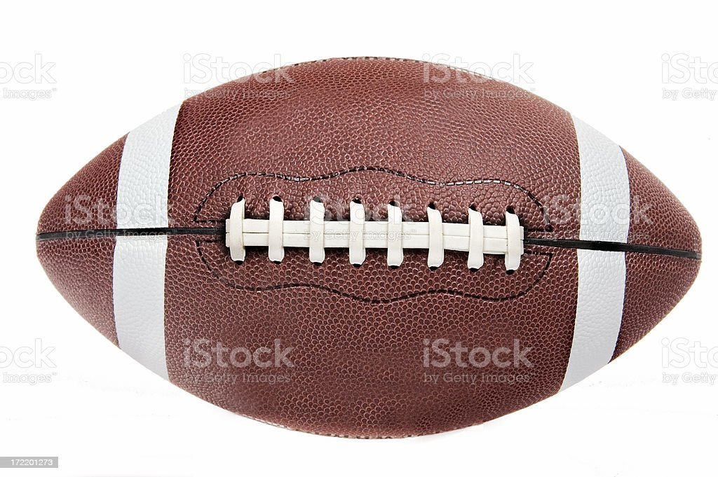American football ball on white background stock photo