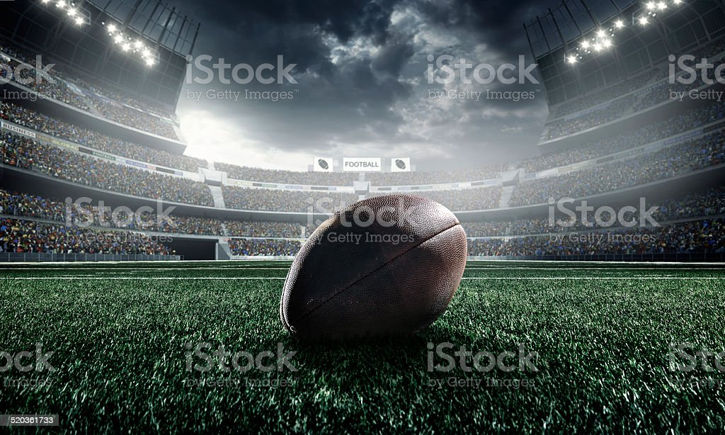American football ball stock photo