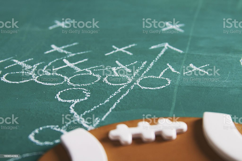 American Football Chalk Play stock photo