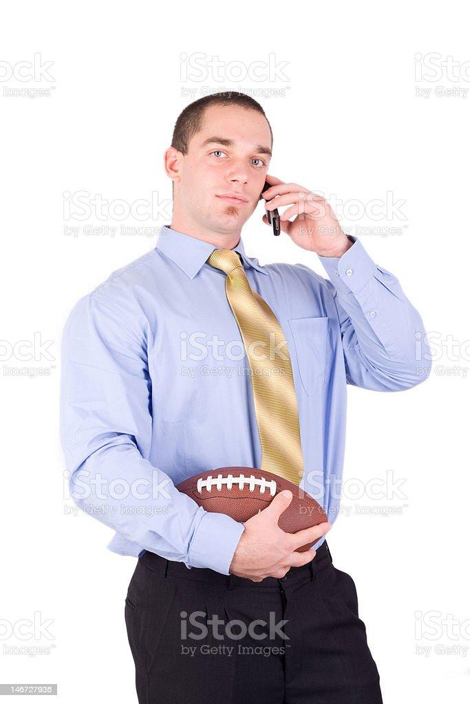 american football coah royalty-free stock photo