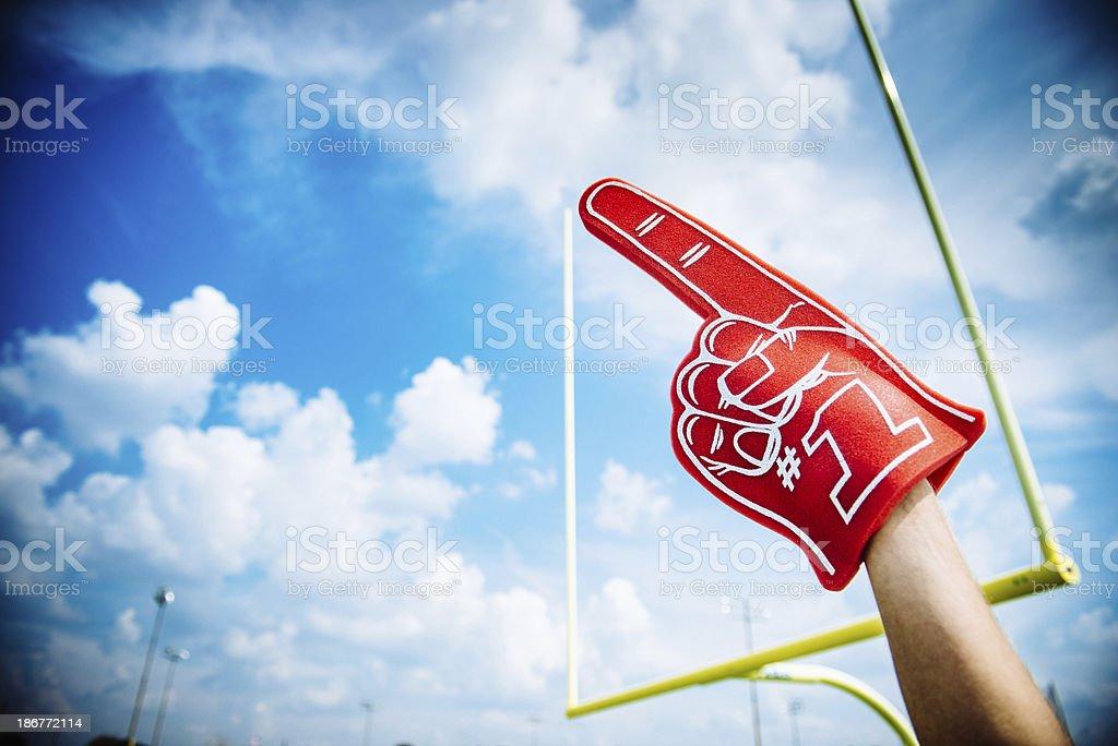 American Football Fan stock photo