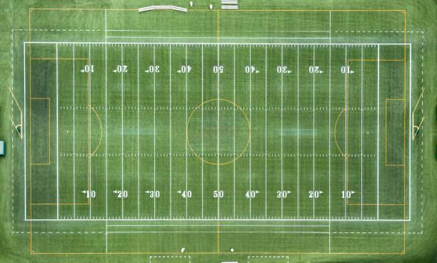American Football Field Aerial stock photo