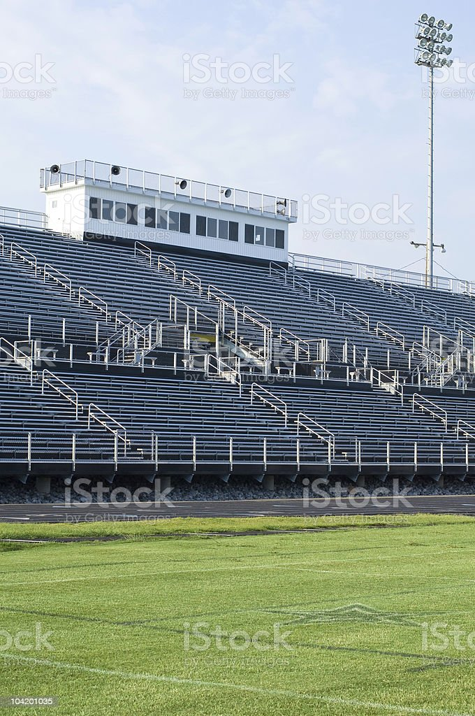 American Football Field at Football Game royalty-free stock photo