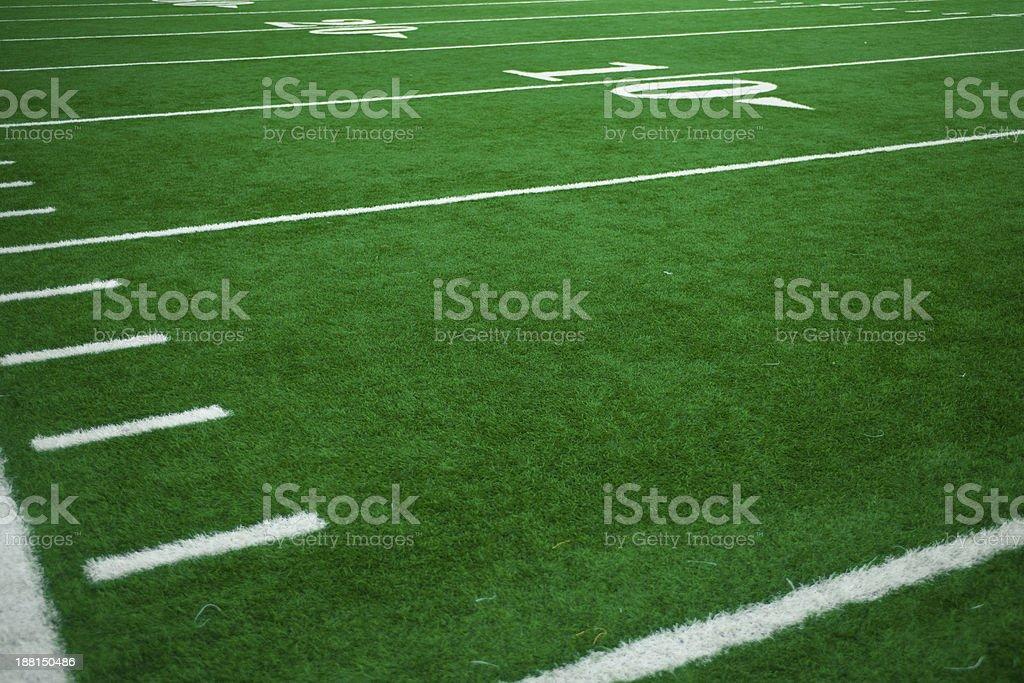 American Football Field at Football Game stock photo