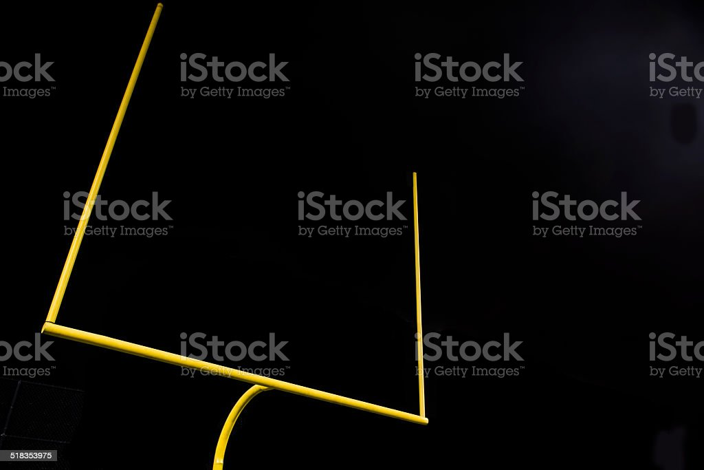 American Football Field Goal at Night stock photo