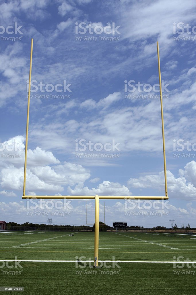 American Football Field Goal Posts stock photo