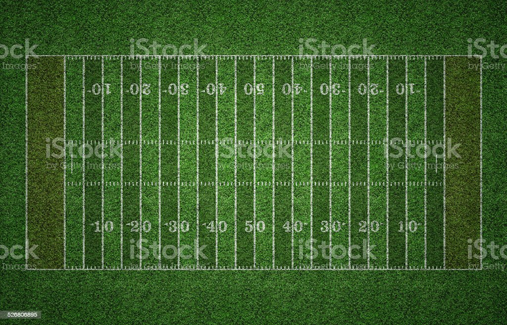 American Football Field on Grass stock photo
