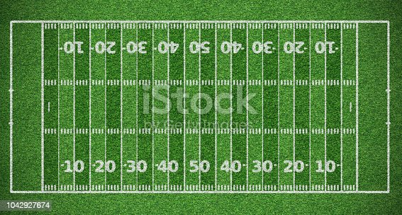 top view of american football field