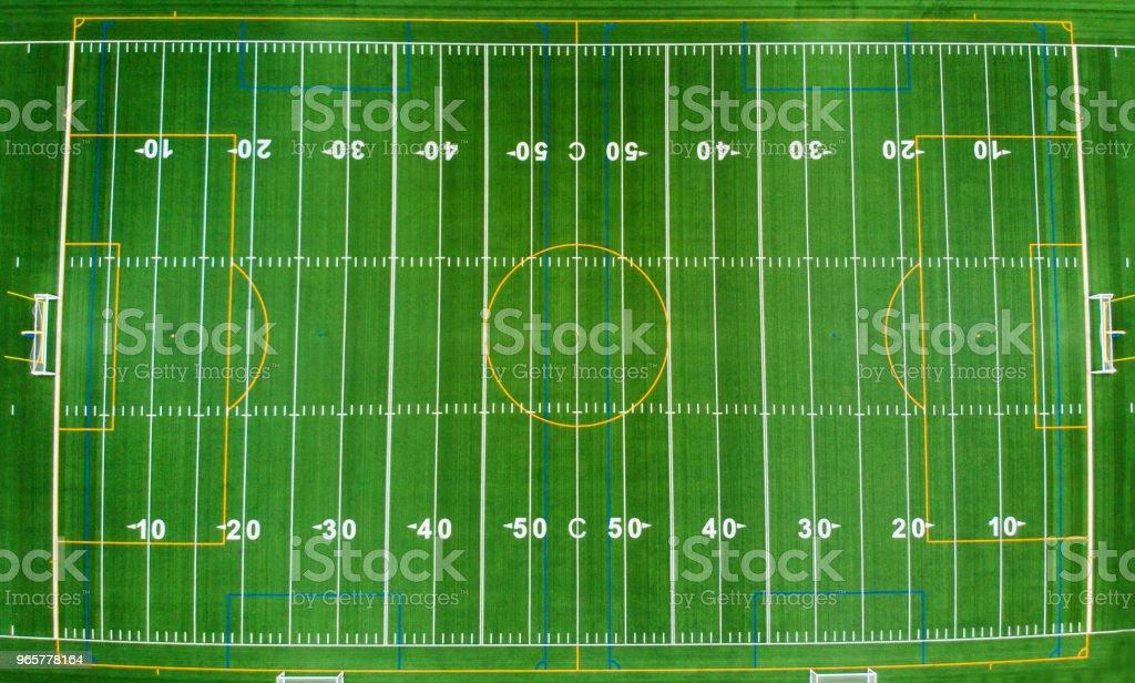 Amerikaanse voetbalveld - Royalty-free American football Stockfoto