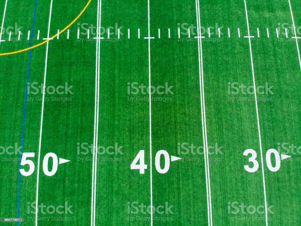 american football field - Royalty-free Above Stock Photo