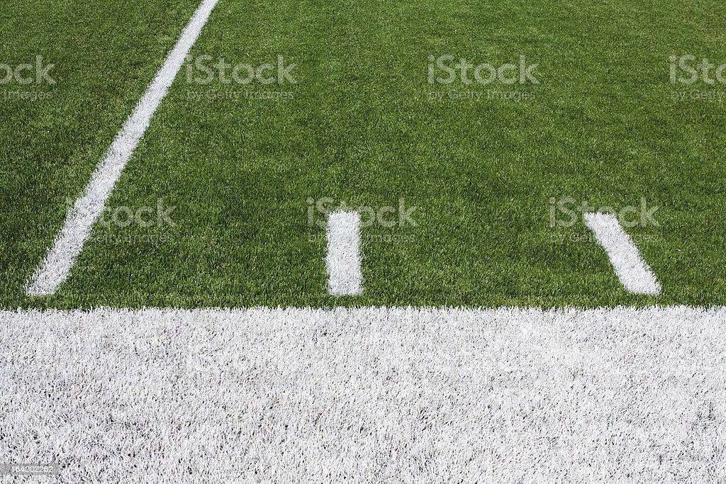 American Football Field Yard Lines stock photo