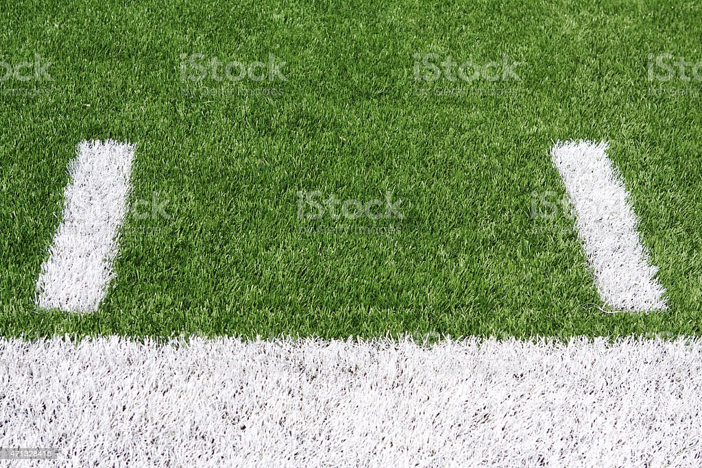 American Football Field Yard Lines royalty-free stock photo