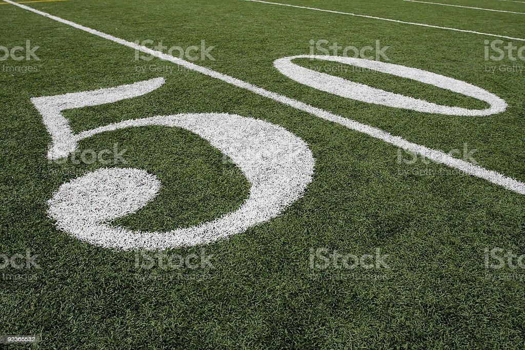 American Football Fifty Yard Line royalty-free stock photo