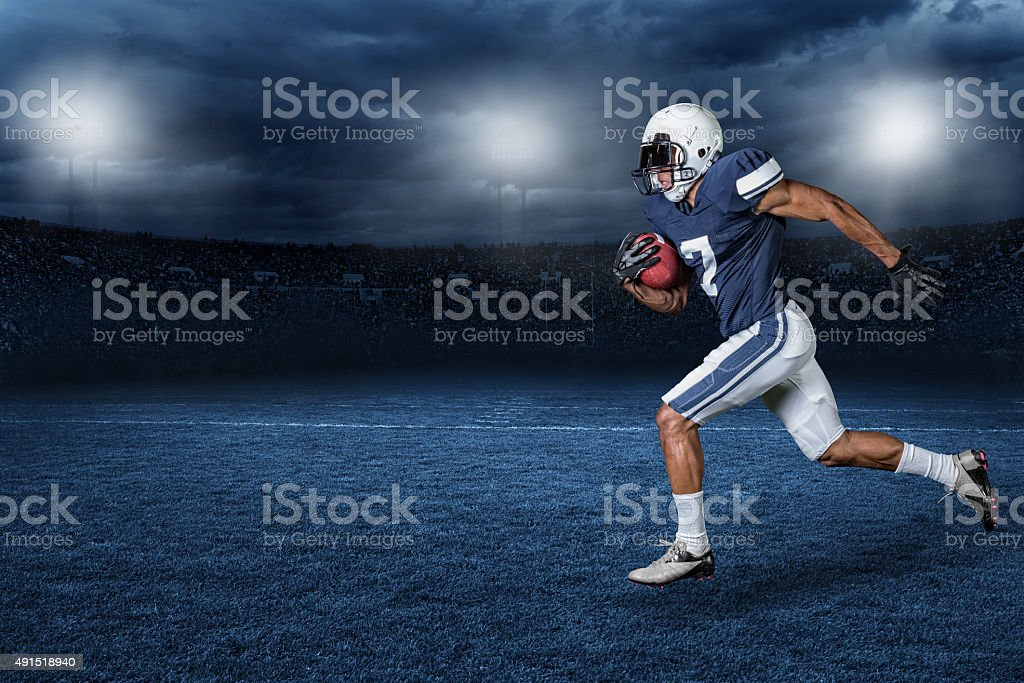 American Football Game Action photo stock photo