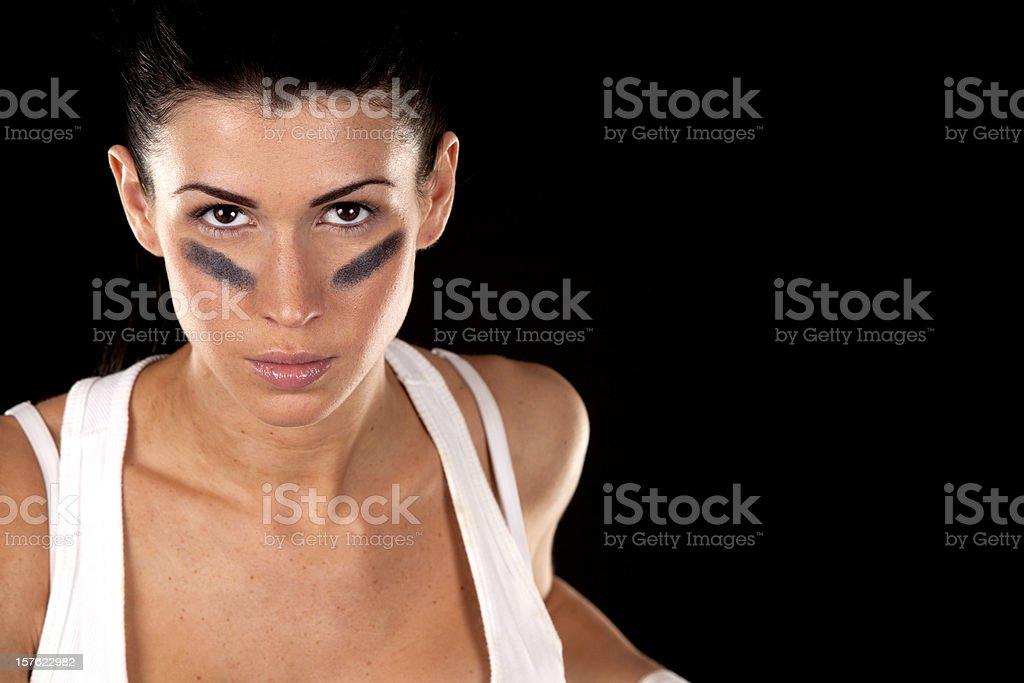 american football girl stock photo