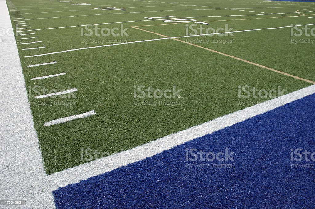 American Football Goal Line stock photo