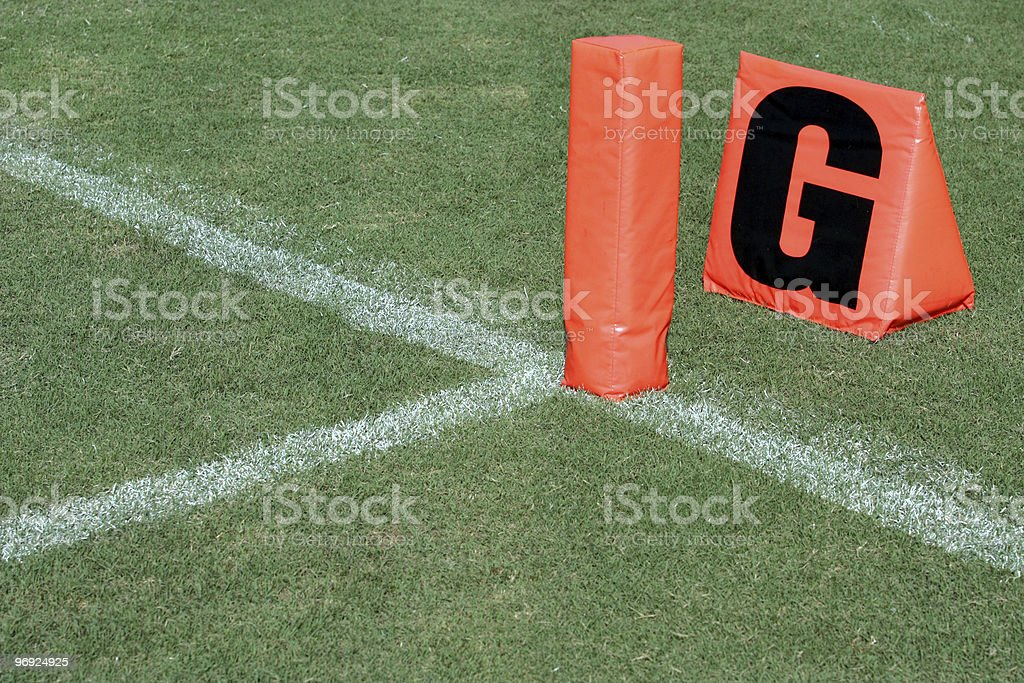 American Football Goal Line royalty-free stock photo
